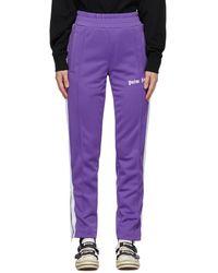Palm Angels Pantalon de survetement mauve Classic Slim - Violet