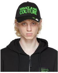 Versace Jeans Couture ブラック ロゴ キャップ
