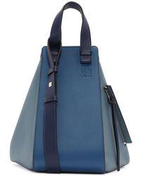 Loewe - Blue And Navy Hammock Bag - Lyst