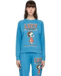 Marc Jacobs Peanuts Edition ブルー フレンチ テリー スウェットシャツ