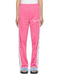 Palm Angels Pink Contrast Tape Track Trousers