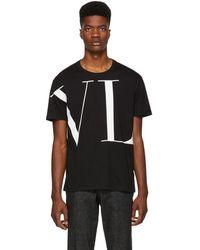 Valentino - Black Vltn Logo T-shirt - Lyst