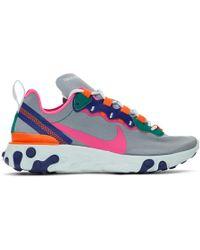 Nike Baskets grises React Element 55 - Multicolore