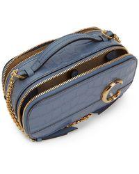 Chloé Blue Croc Mini C Vanity Bag