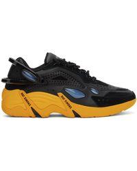 Raf Simons Baskets Cylon-21 noires et jaunes