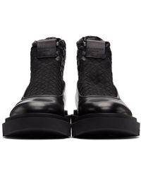 Givenchy - ブラック コンバット チェルシー ブーツ - Lyst