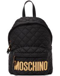 Moschino ブラック ロゴ バックパック