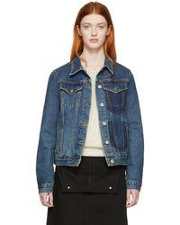 JW Anderson - Blue Denim Shaded Pocket Jacket - Lyst