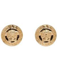 Versace - Gold Medusa Stud Earrings - Lyst