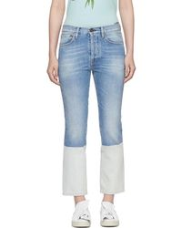 Ports 1961 - Blue Contrast Bottom Jeans - Lyst