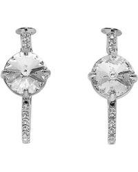 Miu Miu Boucles doreilles a anneaux argentees Small Crystal - Métallisé