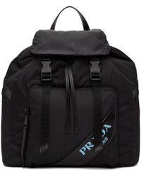Prada Black Mirage Backpack