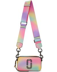 Marc Jacobs Sac camera multicolore Small Airbrush Snapshot - Blanc