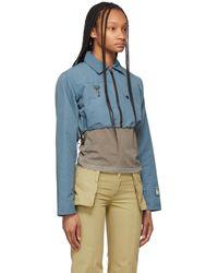 Reese Cooper Nylon Cropped Jacket - Blue