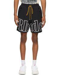 Rhude Ssense Exclusive Black & White Rh Logo Shorts
