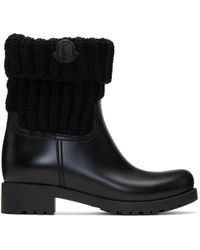 Moncler | Black Pvc Ginette Boots | Lyst