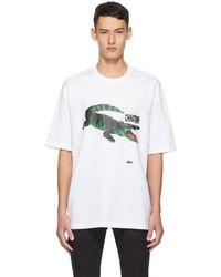 Lacoste Chinatown Market Edition ホワイト ロゴ T シャツ