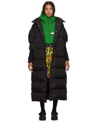 Prada - Black Long Buttons Down Jacket - Lyst
