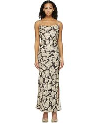 Nanushka Brown & Beige Willow Mid-length Dress - Natural
