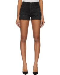 Agolde - Black Denim Jaden Hi Rise Cut Off Shorts - Lyst