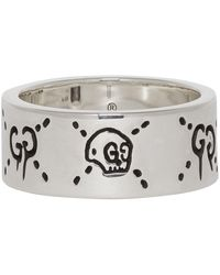 Gucci Silver 'ghost' Ring - Metallic