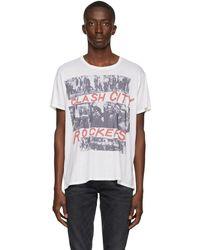 R13 オフホワイト Clash City Boy T シャツ