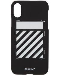 Off-White c/o Virgil Abloh - ブラック And ホワイト ダイアゴナル Iphone X ケース - Lyst