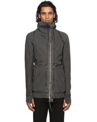 Boris Bidjan Saberi - Reversible Dark Grey Faded Zip-up Hoodie - Lyst