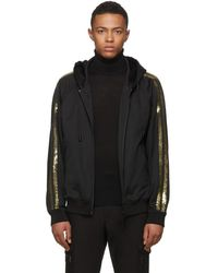 DSquared² - Black And Gold Sequin Zip Hoodie - Lyst