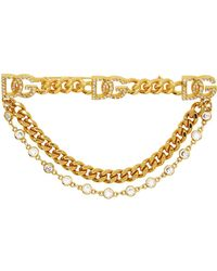 Dolce & Gabbana Dolcegabbana ゴールド ロゴ ブローチ - マルチカラー