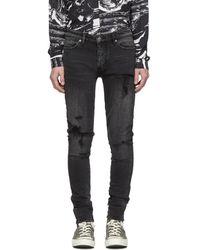 Ksubi Black Van Winkle Angst Trashed Jeans