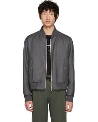 Thom Browne - Grey Engineered Centre Back Bomber Jacket - Lyst
