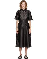 Co. ブラック Placket ドレス