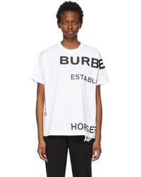 Burberry - ホワイト Horseferry T シャツ - Lyst