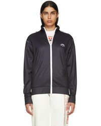 Alexander Wang - Black And White Zip-up Track Jacket - Lyst