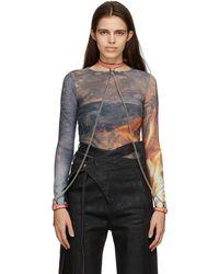 Fleet Ilya Slim Chain Collar & Cuffs Necklace - Pink