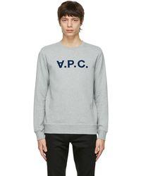 A.P.C. - グレー Vpc スウェットシャツ - Lyst