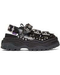 Eytys Athena Leather Sandal - Black