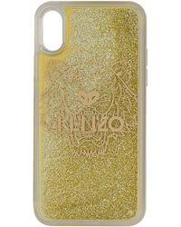 KENZO ゴールド タイガー Iphone X/xs ケース - メタリック