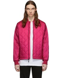 The Very Warm Pink Quilted Bomber Jacket