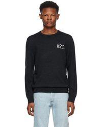 A.P.C. - Grey Sapiens Sweater - Lyst