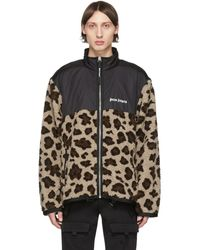 Palm Angels - Beige And Black Animalier Jacket - Lyst
