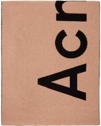 Acne Studios - ピンク And ブラック Toronty マフラー - Lyst