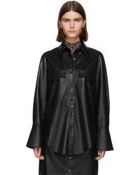 Nanushka Black Vegan Leather Elpi Shirt