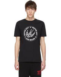 McQ - Black Racing Logo T-shirt - Lyst