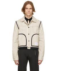 Daniel W. Fletcher Off-white Denim Hickory Stripe Jacket - Multicolour