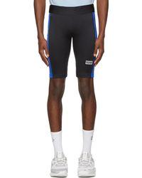 Martine Rose Short noir et bleu Cycling
