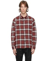 Officine Generale レッド Check Barry シャツ