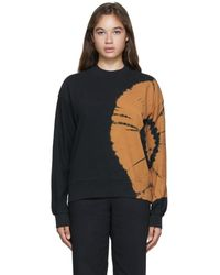 Proenza Schouler Black And Brown Tie-dye Fluid Logo Sweatshirt