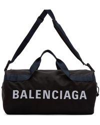 Balenciaga ブラック And ネイビー ホイール ジム バッグ
